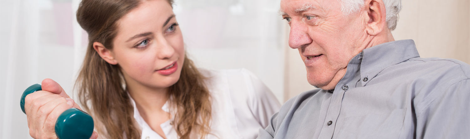 Man assisted by home care assistant from AevaCare Home Care Ruislip providing post surgical support, hospital discharge support, rehabilitation at home, care at home, convalescence, recuperating with home help by AevaCare homecare Rickmansworth